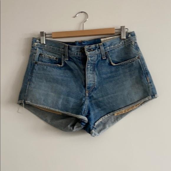 Rag and Bone - high waisted denim shorts